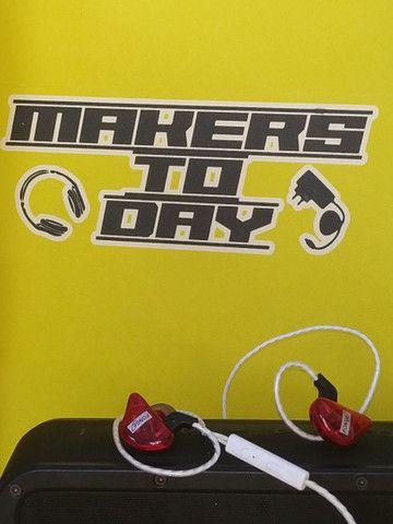 Fones In Ear Kz Fonge  Monitor Palco Celular Tablet Esportes  - Foto 2