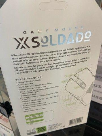 MOUSE GAMER X SOLDADO DE LED - Foto 4