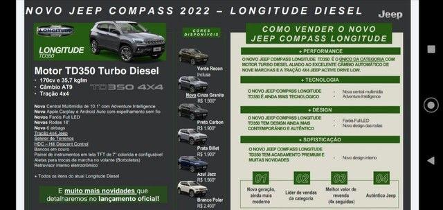 Novo Jeep Compass Longitude turbodiesel 2022 para PCD, PJ ou produtor Rural - Foto 3