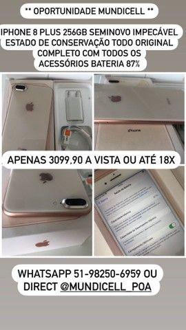 MUNDICELL SEMINOVO IPHONE 8 PLUS 256GB DESBLOQUEADO ANATEL GARANTIA