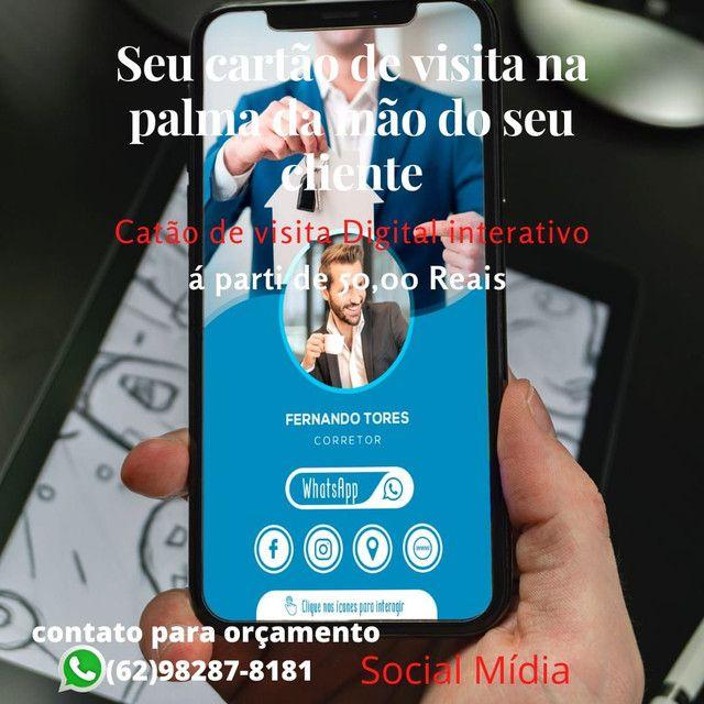 Seviço de social mídia, cartão de visitas digital, aparti de 50 reais - Foto 2