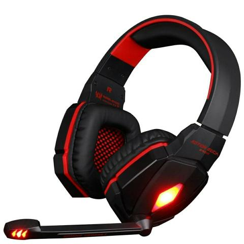 Kit Gamer Com Led Mouse + Headset Novo Lacrado