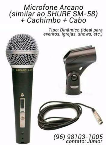 Microfone Profissional Arcano (similar ao Shure SM-58)