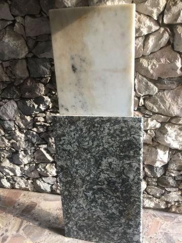 2 pedras de mármores. Parcelo
