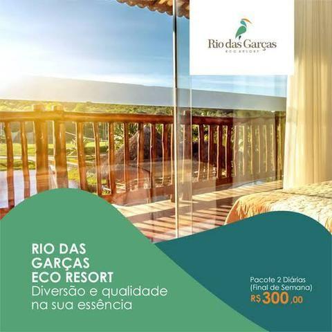 2 diárias no eco resort Rio das garças em Parnamirm