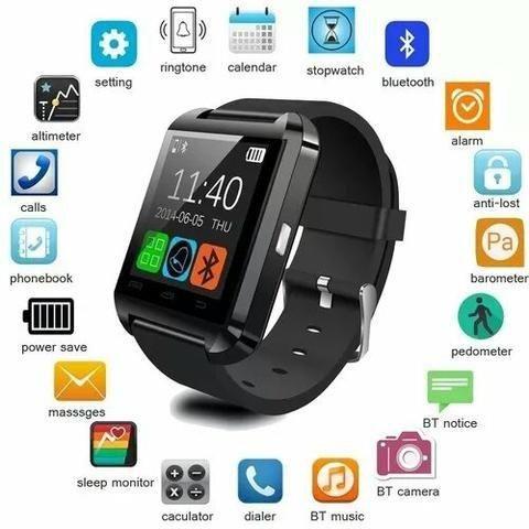 e7a3ad01a94 Smartwatch U8 Relógio Inteligente Bluetooth Android Iphone ...