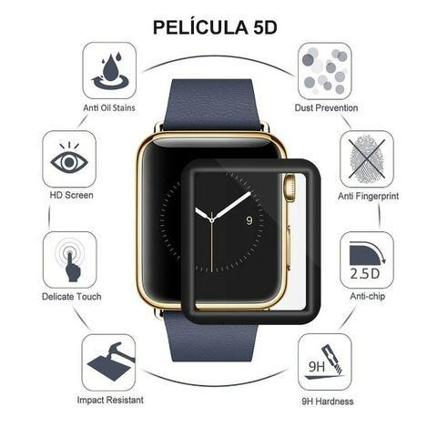 Pulseira Esporte Nylon Apple Watch 38/42mm + Pelicula 5d - Foto 2