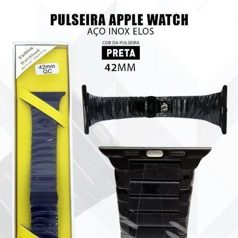 Pulseira Para Relógio Apple Watch De Elos 42mm Aço Inox - Foto 6