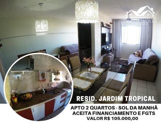 Apartamento 2 Quartos, reformado, com armários, sol da manhã, Resid. Jardim Tropical