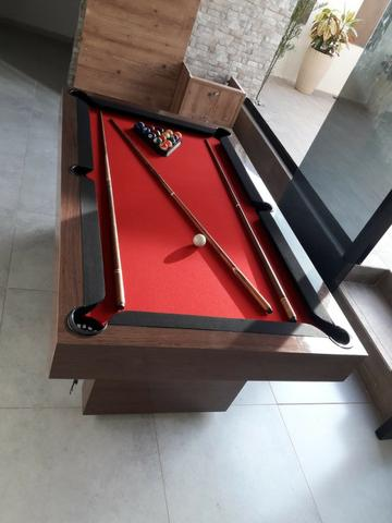 Mesa Sedução   Mesa Imbuia   Tecido Vermelho   Borda Preta   Modelo: BPJF1836 - Foto 2