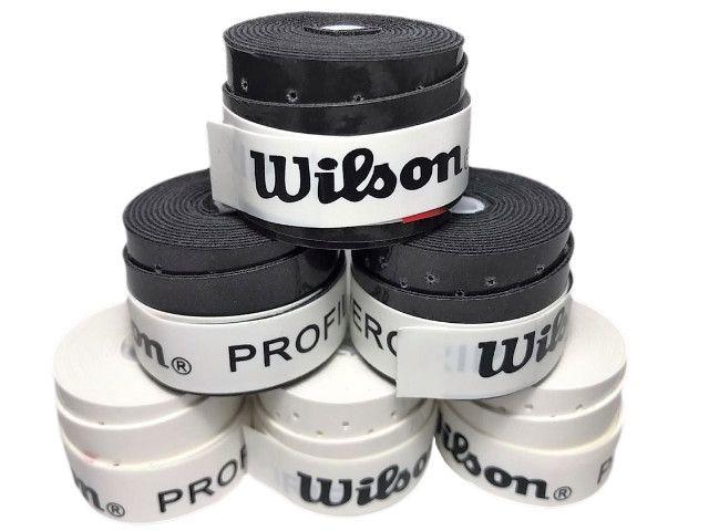 Grip p/ Raquete de Tênis - Wilson Profile - Branco e Preto - 5 Un