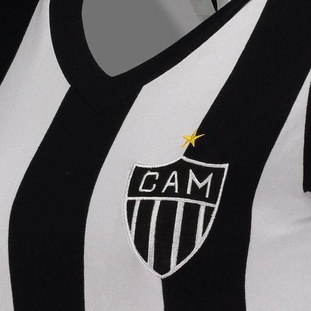Camisa Oficial Atlético Mineiro Reinaldo Babylook Feminino (Tam. P-M-G) em Uberaba, MG - Foto 6