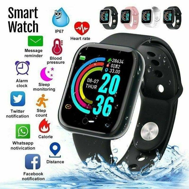 SmartWatch/ Prova d'Água, Batimentos Cardíacos e Pressão, Esportes, Notificação Bluetooth - Foto 3
