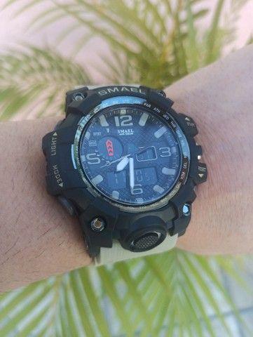 Relógio militar SMAEL (50M) Original - Cáqui - Foto 5