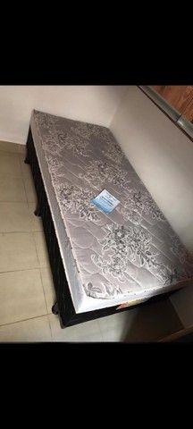 Cama box de solteiro 12 cm de espuma