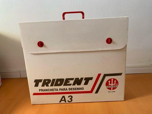 Prancheta para Desenho A3 Trident + Tubo Telescópio  - Foto 2