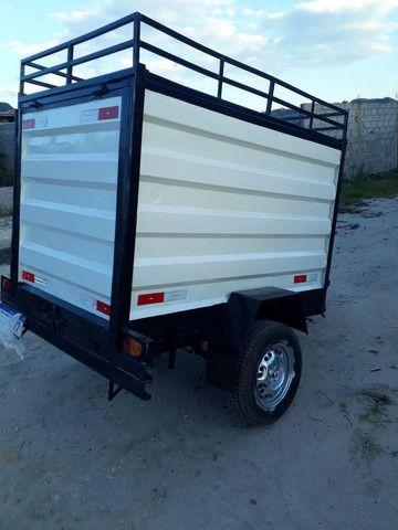 Vende-se uma carroçinha baú  180x110x105 - Foto 6