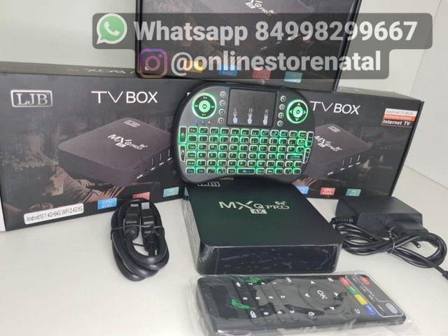 Tv box + teclado<br>64GB de memoria
