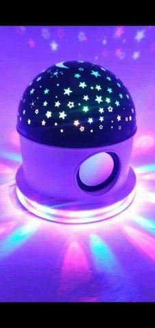 Abajur Luminária céu estrelado com Bluetooth - Foto 2