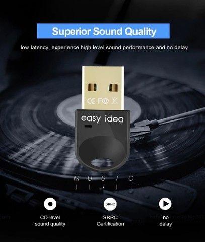 Adaptador Easy idea Usb Bluetooth 5.0 para PC e Notebook. Compatível com windows  - Foto 2