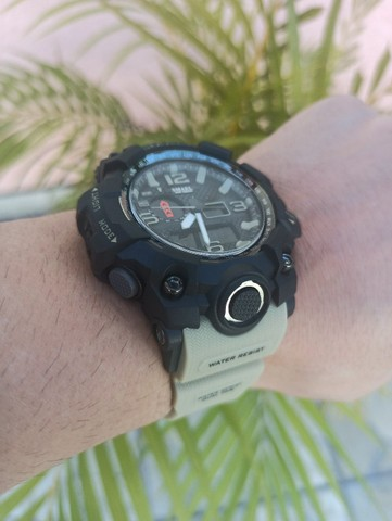 Relógio militar SMAEL (50M) Original - Cáqui - Foto 2