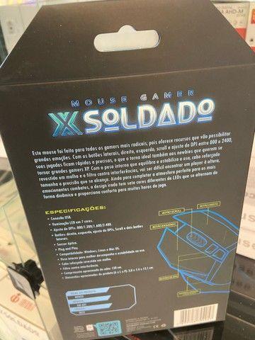 MOUSE GAMER X SOLDADO DE LED - Foto 5