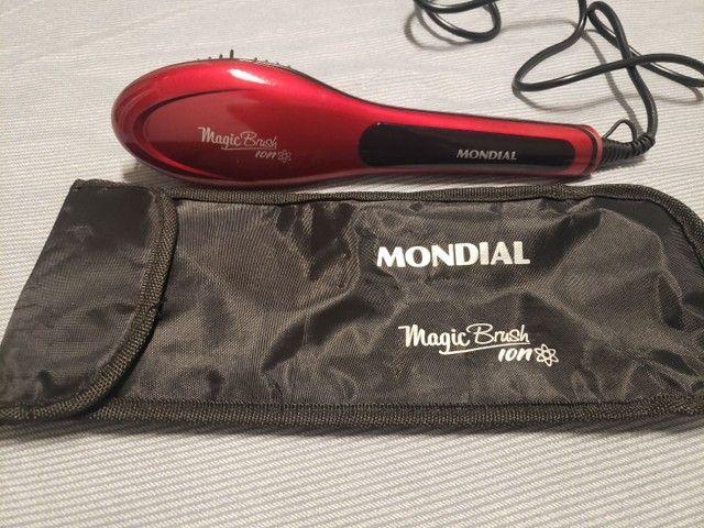 Escova Alisadora Mondial Magic Brush - Foto 2