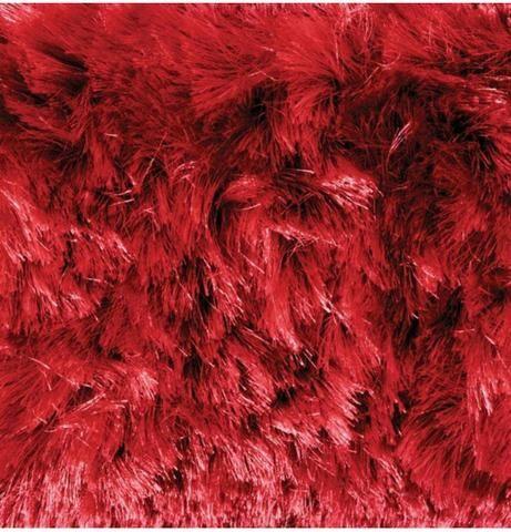 Tapete Felpudo de Luxo Vermelho Rubí