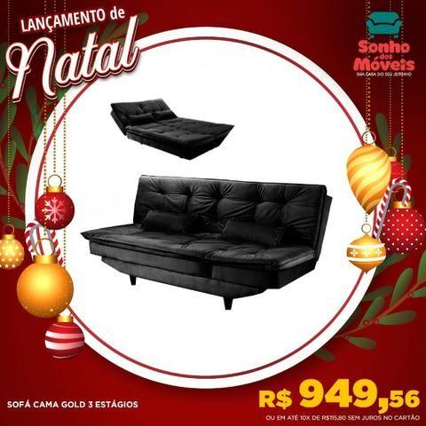 Apenas 949r$ sofa cama gold 3 estágios aqui no lançamento do natal