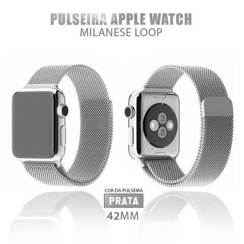 Pulseira Estilo Milanês P/ Apple Watch 42mm + Película 5D - Foto 4