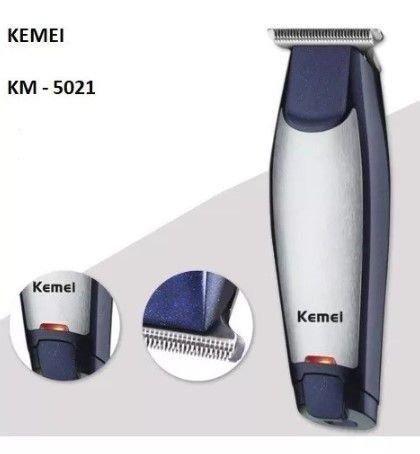 Maquina Acabamento Profissional S/Fio Kemei Km-5021 Recarregável - Foto 2
