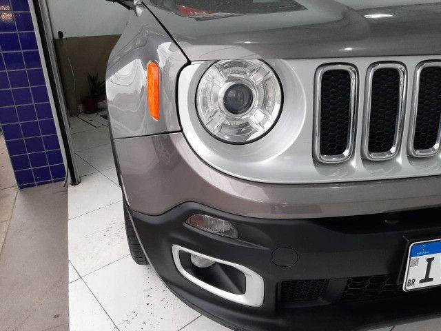Jeep renegade limited automática 6 marchas único dono garantia banco couro multimídia - Foto 8
