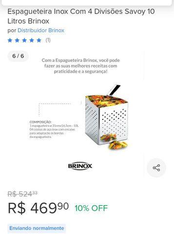 Espagueteira Inox com 4 divisões 10 litros - Foto 6
