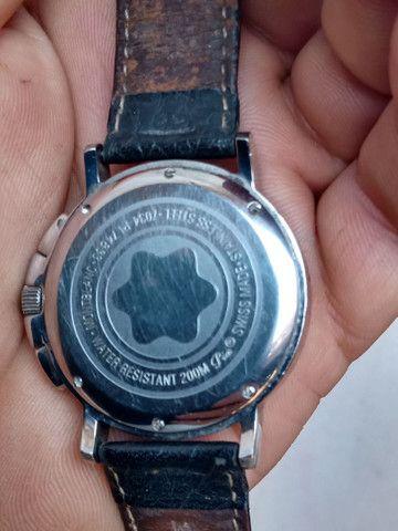 Relógio Montblanc Blanc Summit Xl Crono, Quartzo, Safira - Foto 3