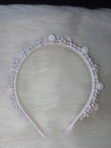 Tiara de luxo branca - Foto 2