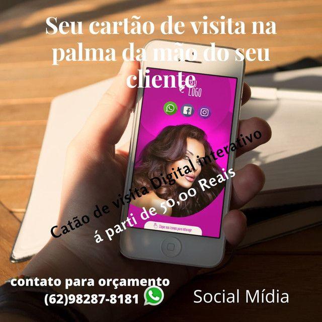 Seviço de social mídia, cartão de visitas digital, aparti de 50 reais - Foto 6