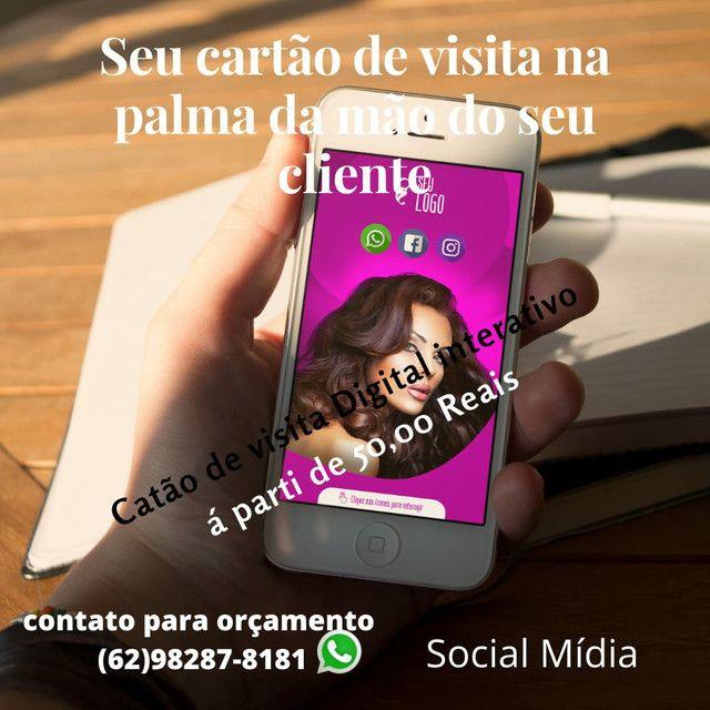 Cartão Virtual interativo e serviço de social mídia  - Foto 3