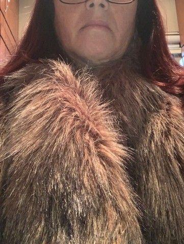 colete feminino em pele sintética, comprada zara spain. tamanho medio. pouco uso - Foto 2