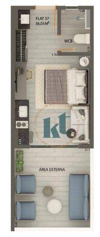 Apartamento com 1 dormitório à venda, 36 m² por R$ 331.094 - Jardim Oceania - João Pessoa/ - Foto 18