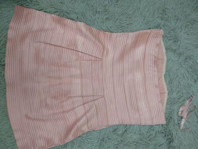 Vestido curto Rosé tomara que caia  - Foto 2