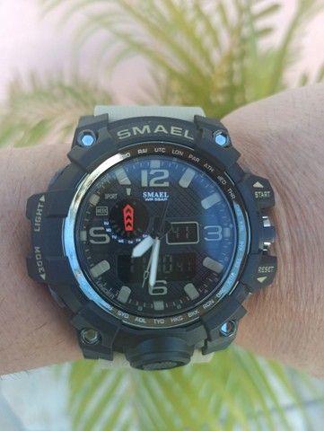 Relógio militar SMAEL (50M) Original - Cáqui - Foto 3