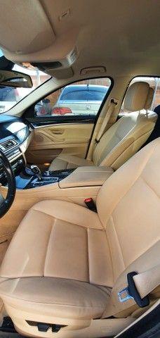 Torro! Ipva Pago!!! BMW 528I 2.0 Turbo - Top de Linha, 2013, interior Caramelo, 245 Cv - Foto 12