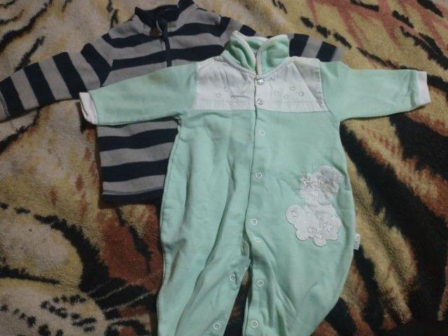 Lote roupas bebê menino 0a3 meses  - Foto 6