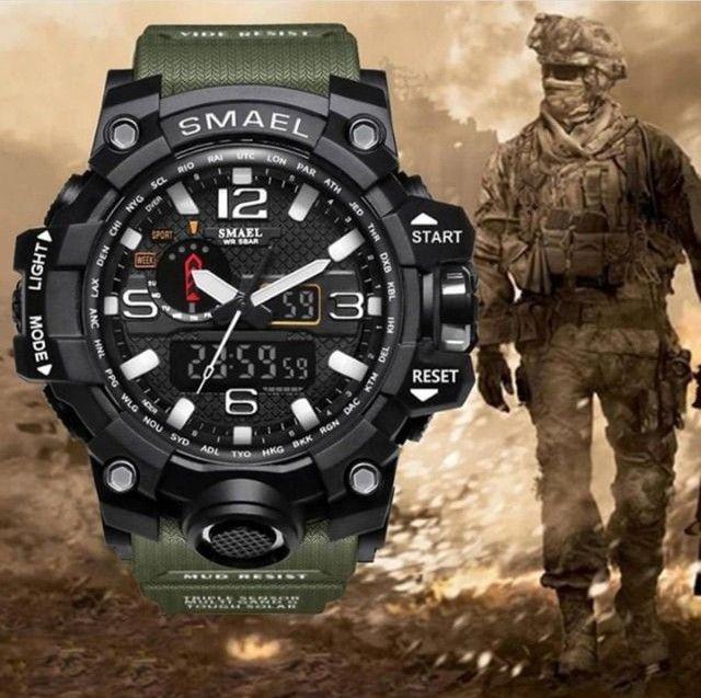 Relógio militar SMAEL (50M) Original - Verde Oliva