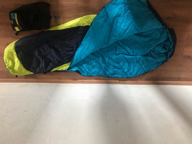 Saco de Dormir - Azul/Verde - Foto 2