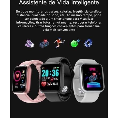 SmartWatch/ Prova d'Água, Batimentos Cardíacos e Pressão, Esportes, Notificação Bluetooth - Foto 2