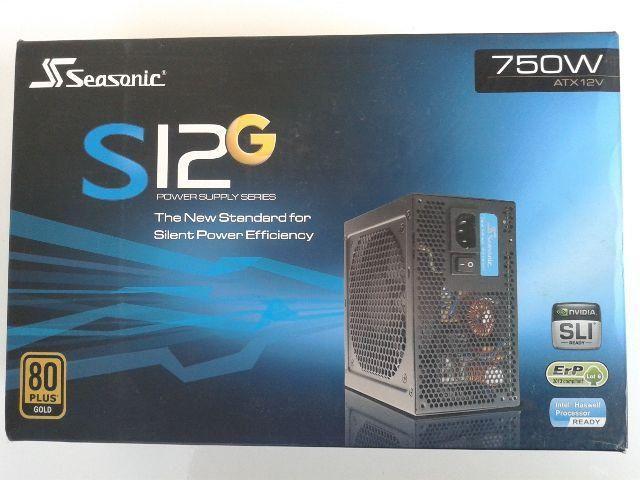 Fonte Gamer Seasonic 750W S12G-750 Ssr750 RT Pfc Ativo 80 Plus Gold