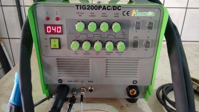 Solda inversora 200P AC/DC Hylong - IGBT para aluminio-inox