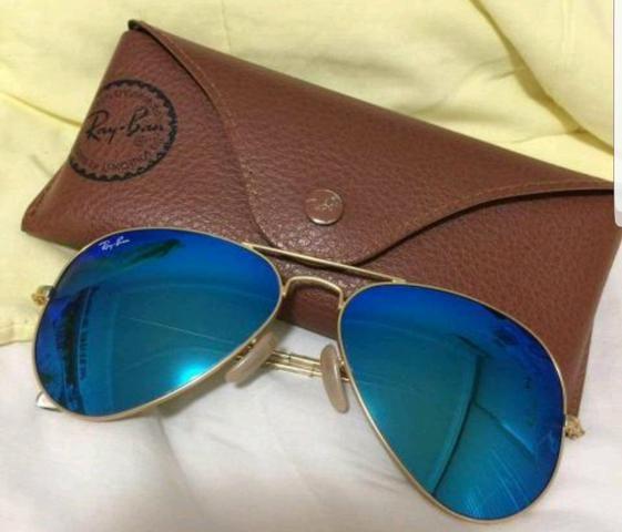 Óculos Ray ban Original azul espelhado em perfeito estado (Só vendo ... 68c8ceda24