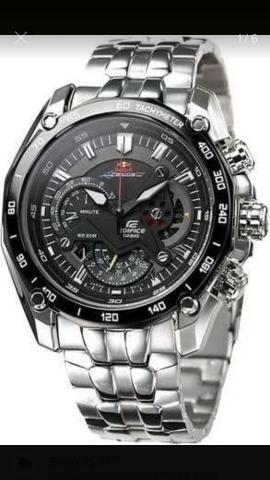 d65be70ac53 Relógio casio red bull edifice original na caixa